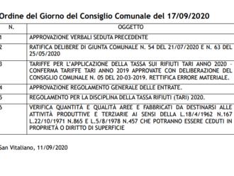 San Vitaliano, domani il Consiglio Comunale: ecco l