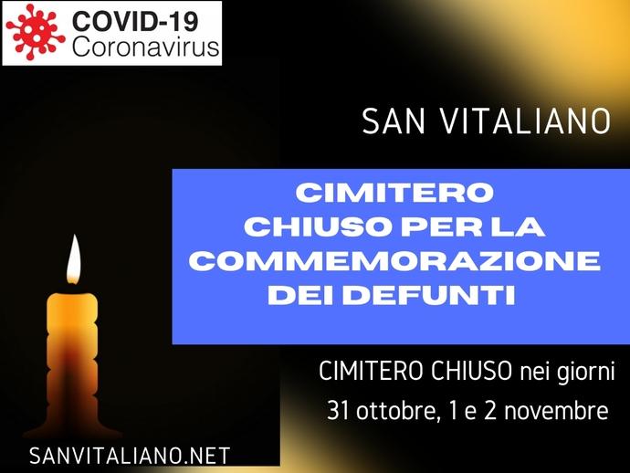 San Vitaliano, Cimitero chiuso per la commemorazione dei defunti