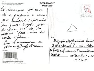 La cartolina del Brigadiere Coletta, arrivò a San Vitaliano il giorno prima della strage