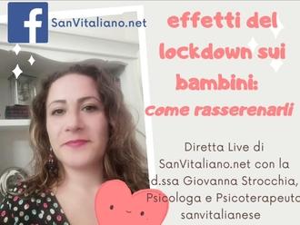 Effetti del lockdown sui bambini: ne parliamo venerdì sera in diretta con la d.ssa Strocchia
