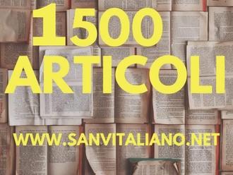 Superata quota 1500 articoli caricati sul sito www.SanVitaliano.net: grazie a tutti