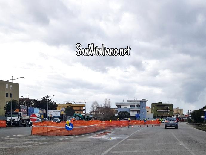 San Vitaliano, ecco la grande rotonda di via Nazionale: paga la Provincia