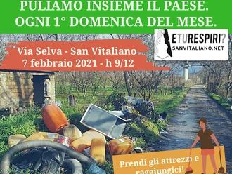 San Vitaliano, puliamo tutti insieme via Selva: appuntamento domenica 7 febbraio ( h 9-12)