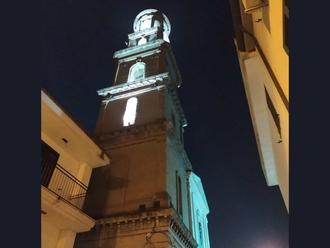San Vitaliano, il Campanile illuminato: la foto del giorno