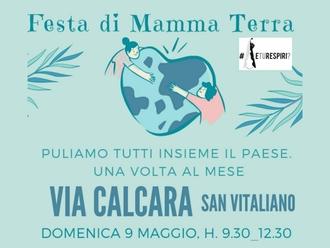 San Vitaliano, Domenica puliamo insieme via Calcara ( e sarà una Festa della Mamma diversa)