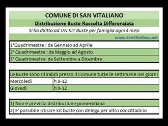 San Vitaliano, distribuzione KIT raccolta differenziata: ecco cosa c