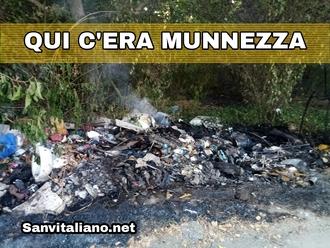 San Vitaliano, è bruciata anche spazzatura nel rogo di ieri in via Masseria Sottile